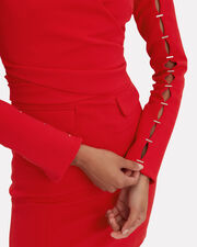 Staple Sleeve Wrap Dress, RED, hi-res