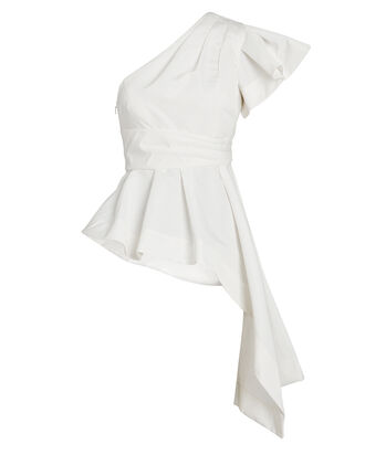 Liberty One-Shoulder Blouse, IVORY, hi-res