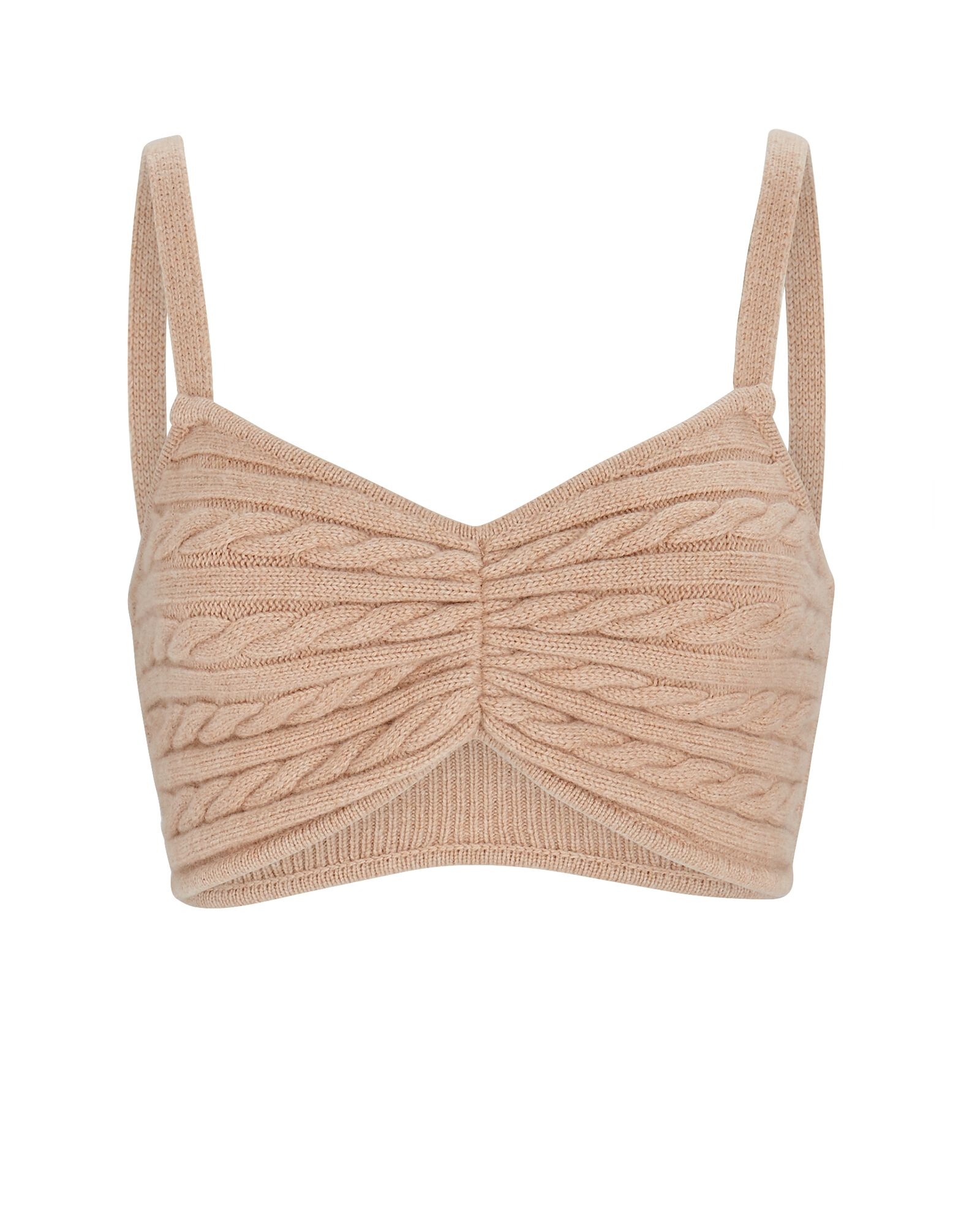 Emery Cable Knit Wool Bralette, IVORY, hi-res