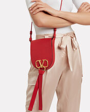 V Ring Saddle Bag, RED, hi-res