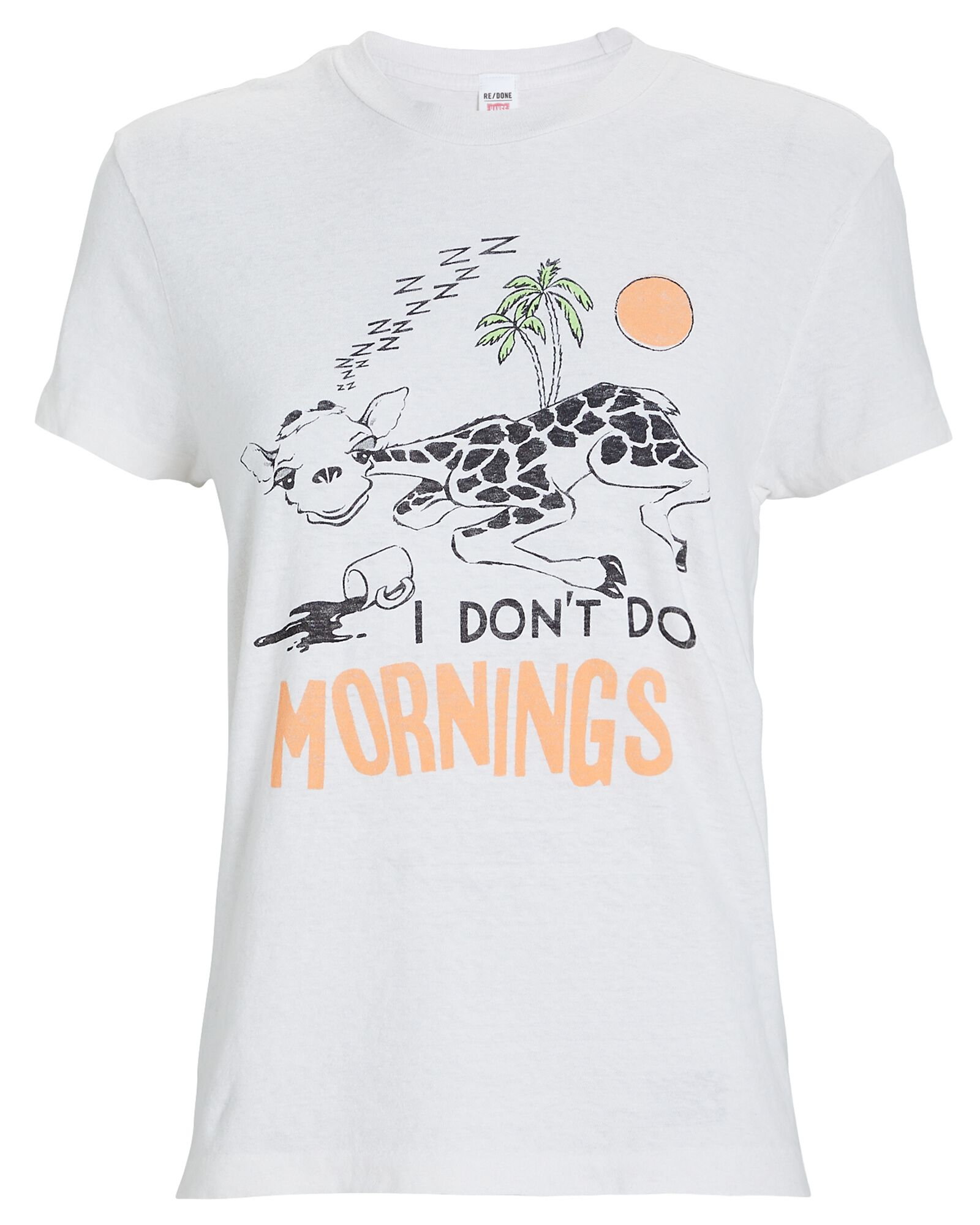 70s Loose I Don't Do Mornings T-Shirt, IVORY, hi-res