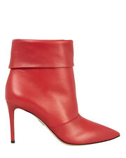 Banner Red Leather Booties, RED, hi-res