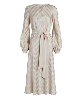 Sheena Striped Midi Dress, IVORY, hi-res