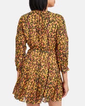 Floral Godet Belted Dress, MULTI, hi-res