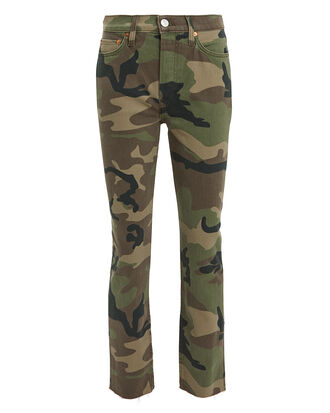 High-Rise Camo Crop Jeans, CAMO, hi-res
