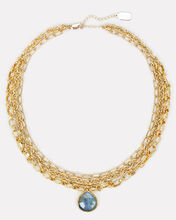 Layered Chain-Link Necklace, GOLD, hi-res