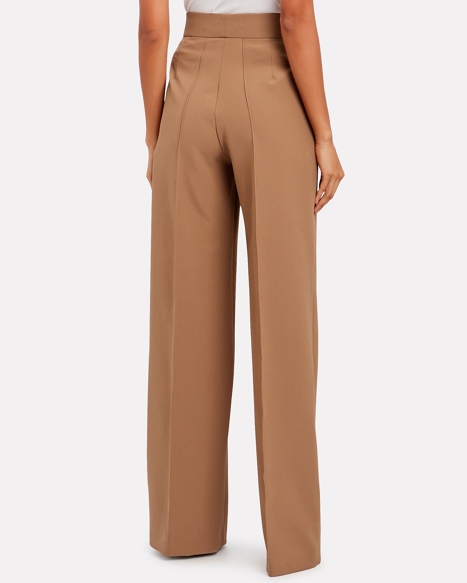 High-Waist Suiting Trousers, CAMEL, hi-res