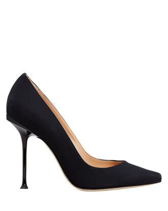 Milano Pointed Pumps, BLACK, hi-res