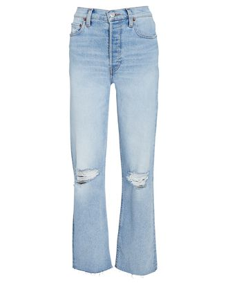 70s High-Rise Stove Pipe Jeans, SEAWATER DESTROYED, hi-res