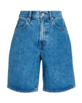 London Relaxed Denim Shorts, PACIFIC, hi-res