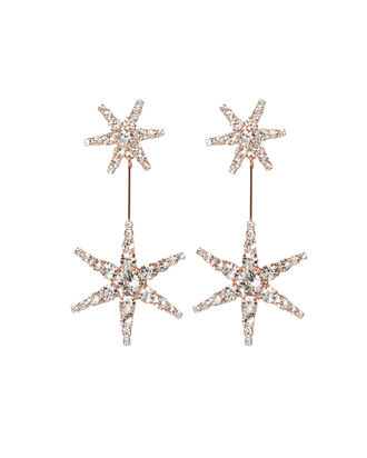 Estee Crystal Drop Earrings, ROSE, hi-res