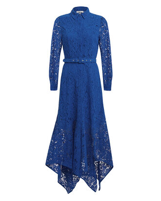 Cotton Lace Midi Dress, BLUE-MED, hi-res