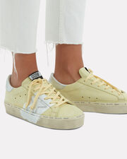 Hi Star Yellow Leather Low-Top Sneakers, YELLOW/SILVER, hi-res