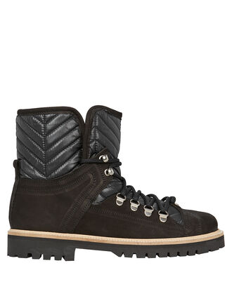 Winter Hiking Shearling Boots, BLACK, hi-res