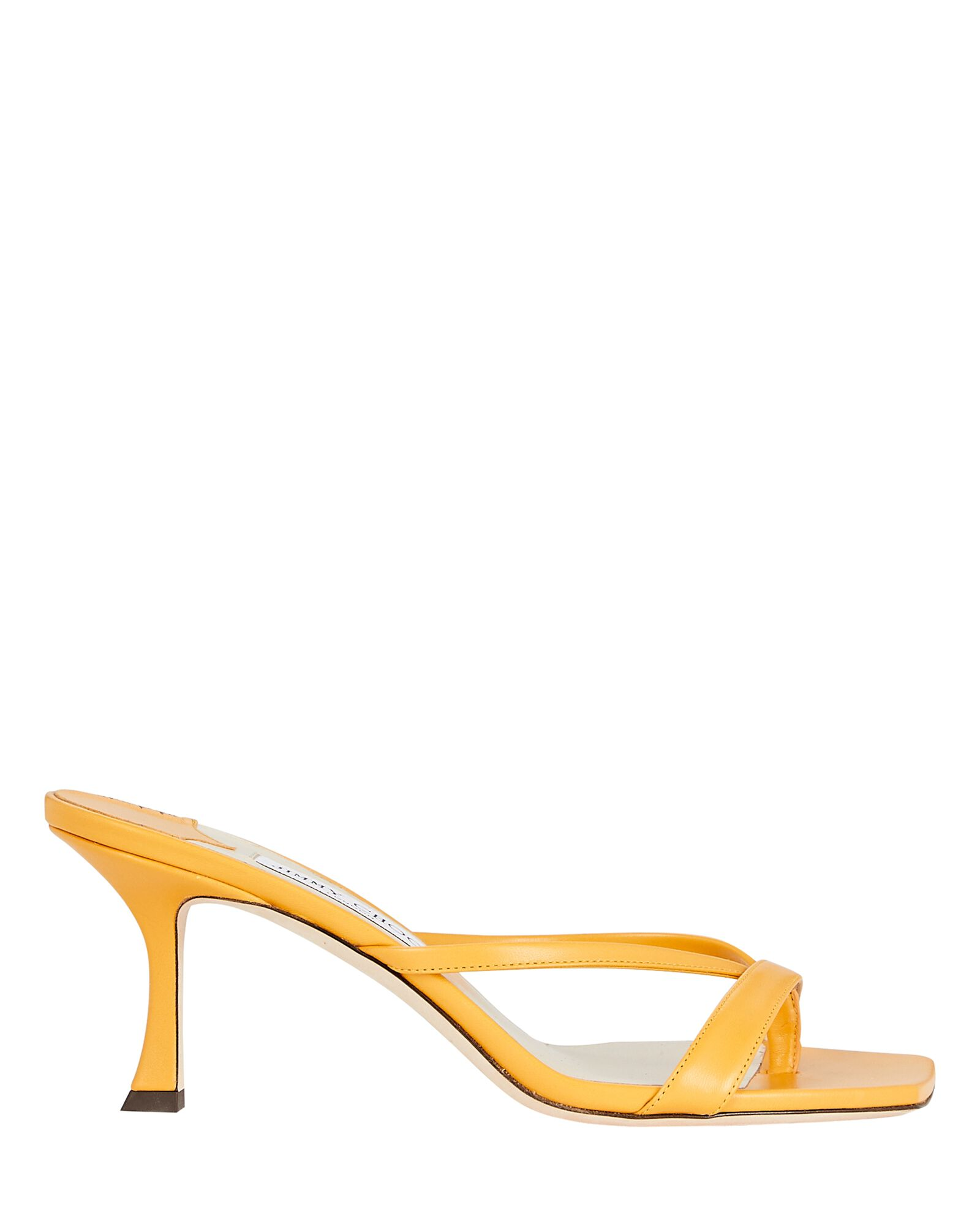 Maelie 70 Leather Thong Sandals, YELLOW, hi-res