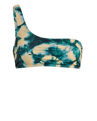 Reina Tie-Dye One-Shoulder Bikini Top, BLUE/GREEN, hi-res
