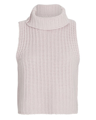 Saige Sleeveless Cashmere Turtleneck, , hi-res