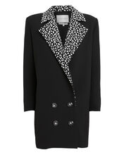 Leopard Lapel Suiting Blazer, BLACK, hi-res