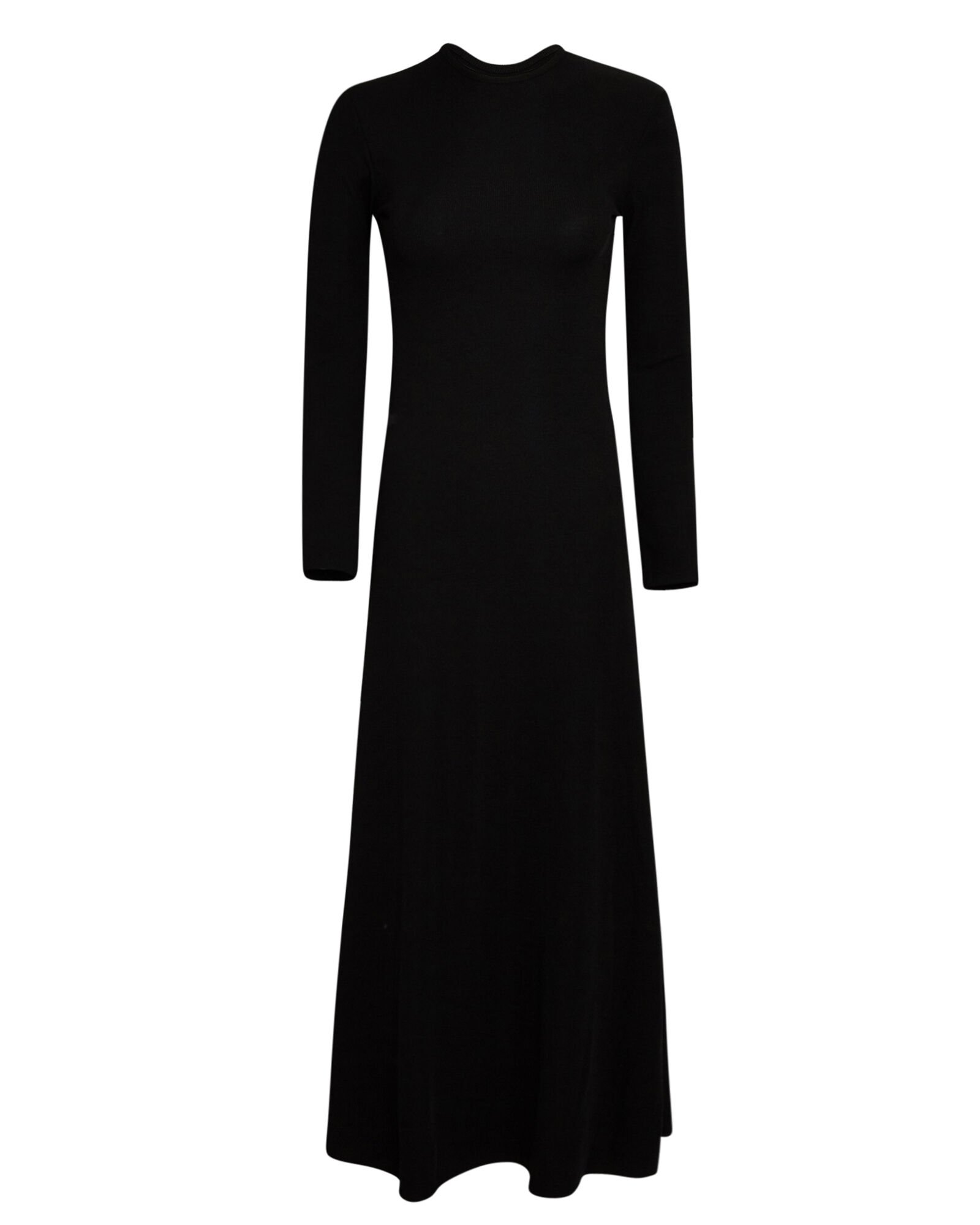 Open Back Knit Midi Dress, BLACK, hi-res