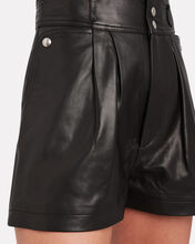 Lydma High-Waist Leather Shorts, BLACK, hi-res