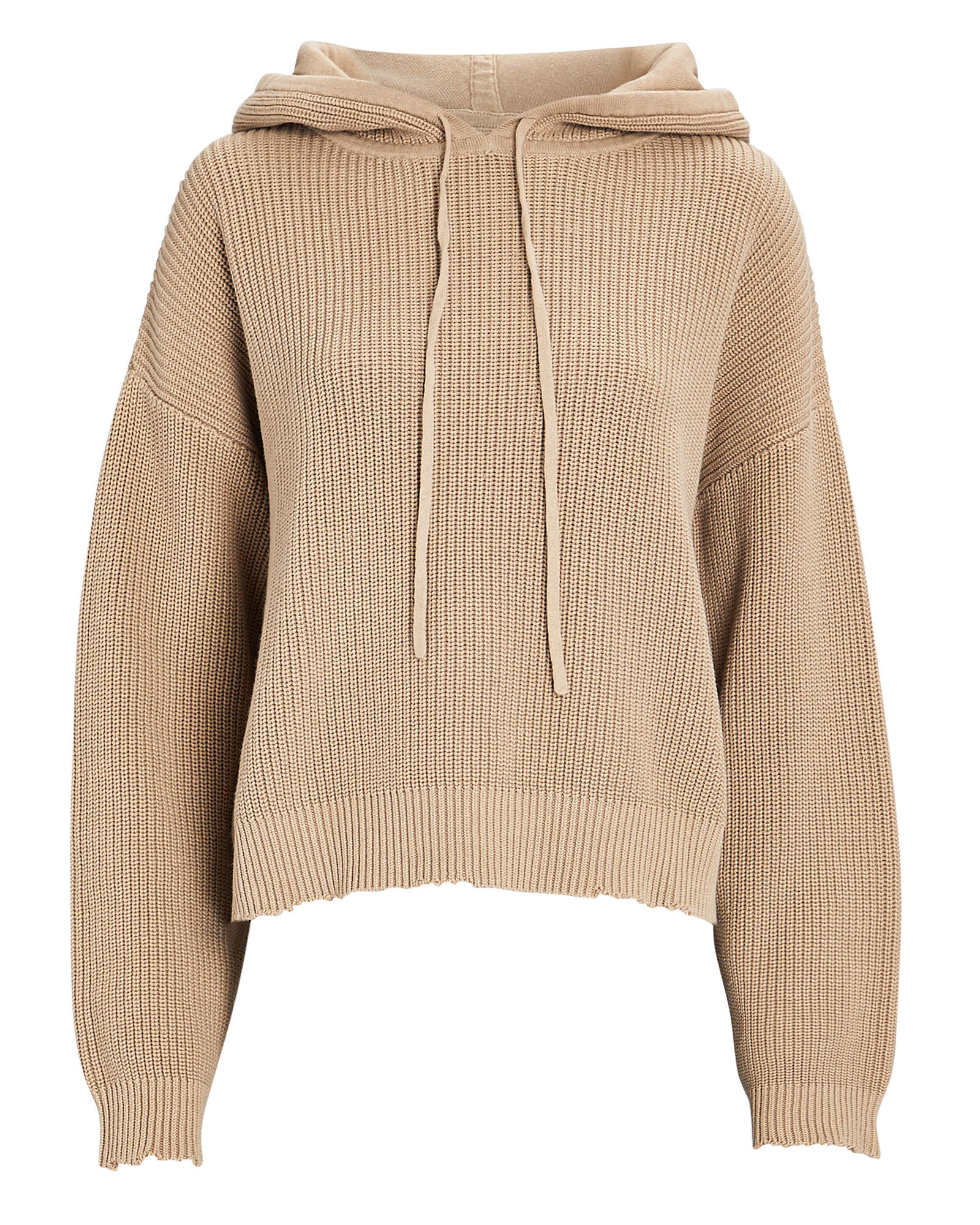 Marvin Distressed Hoodie, TAN, hi-res