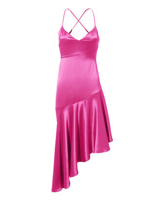 Madelyn Asymmetric Dress, PINK, hi-res