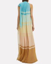 High Neck Colorblock Gown, MULTI, hi-res