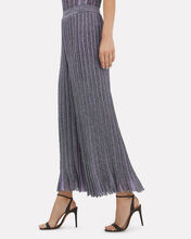 Pleated Wide Leg Pants, PURPLE, hi-res