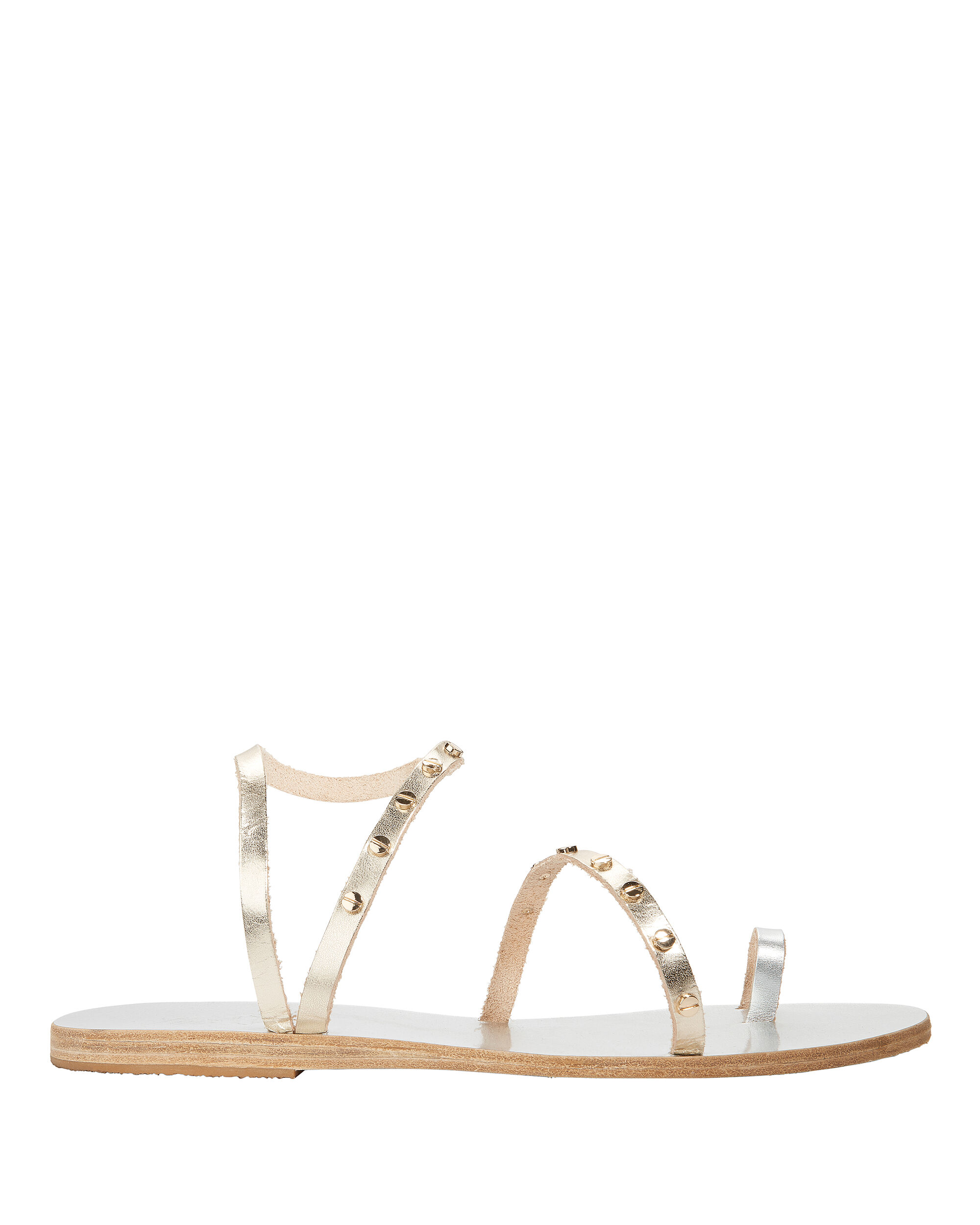 Apli Eleftheria Studded Gold Sandals, METALLIC, hi-res