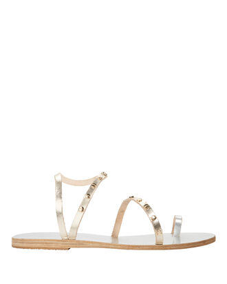 Apli Eleftheria Studded Gold Sandals, SILVER, hi-res