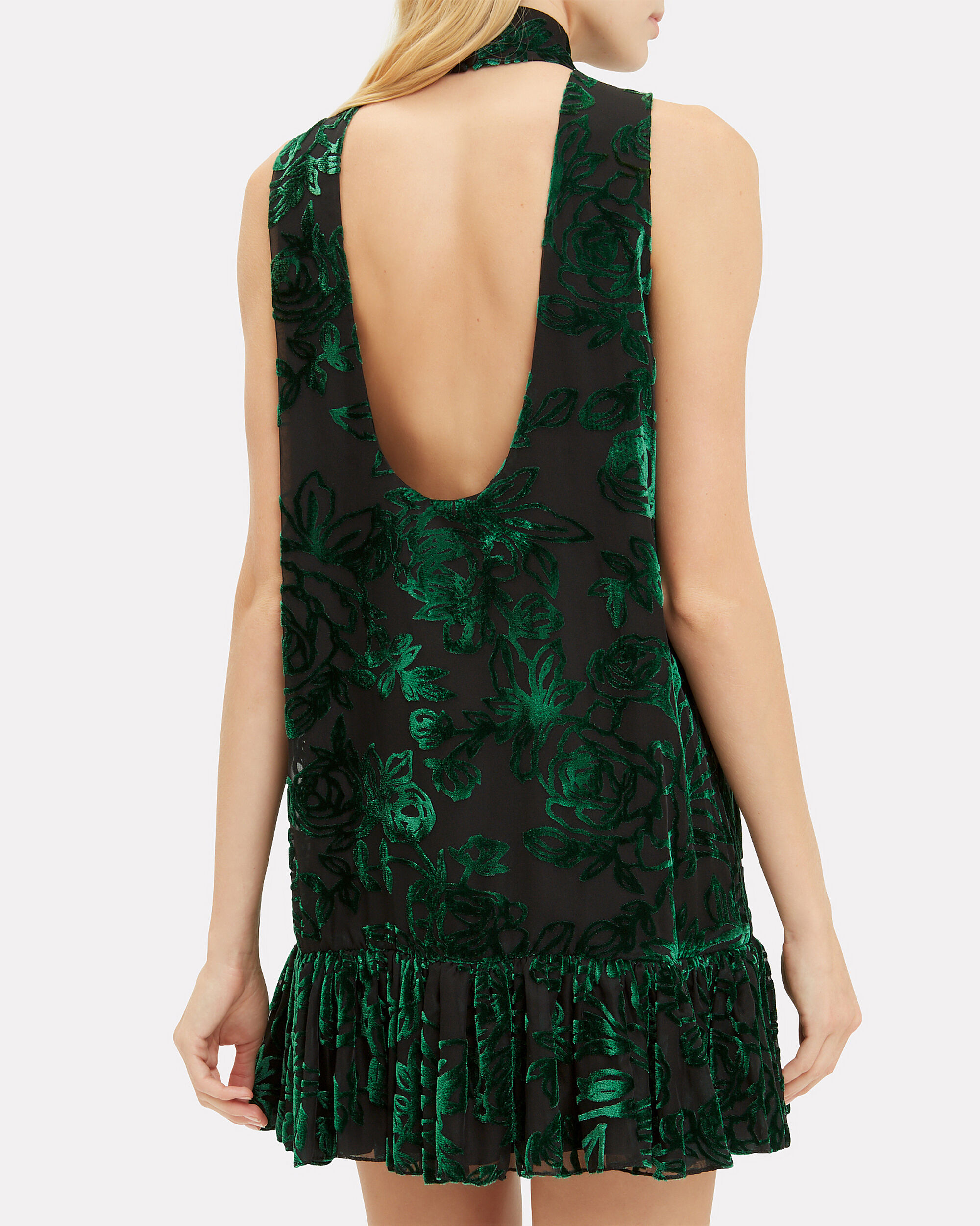 Angeletta Choker Mini Dress, EMERALD, hi-res