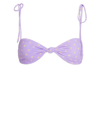 Seaside Twist Front Bikini Top, PURPLE-LT, hi-res