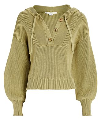 Ursina Hooded Rib Knit Sweater, OLIVE, hi-res