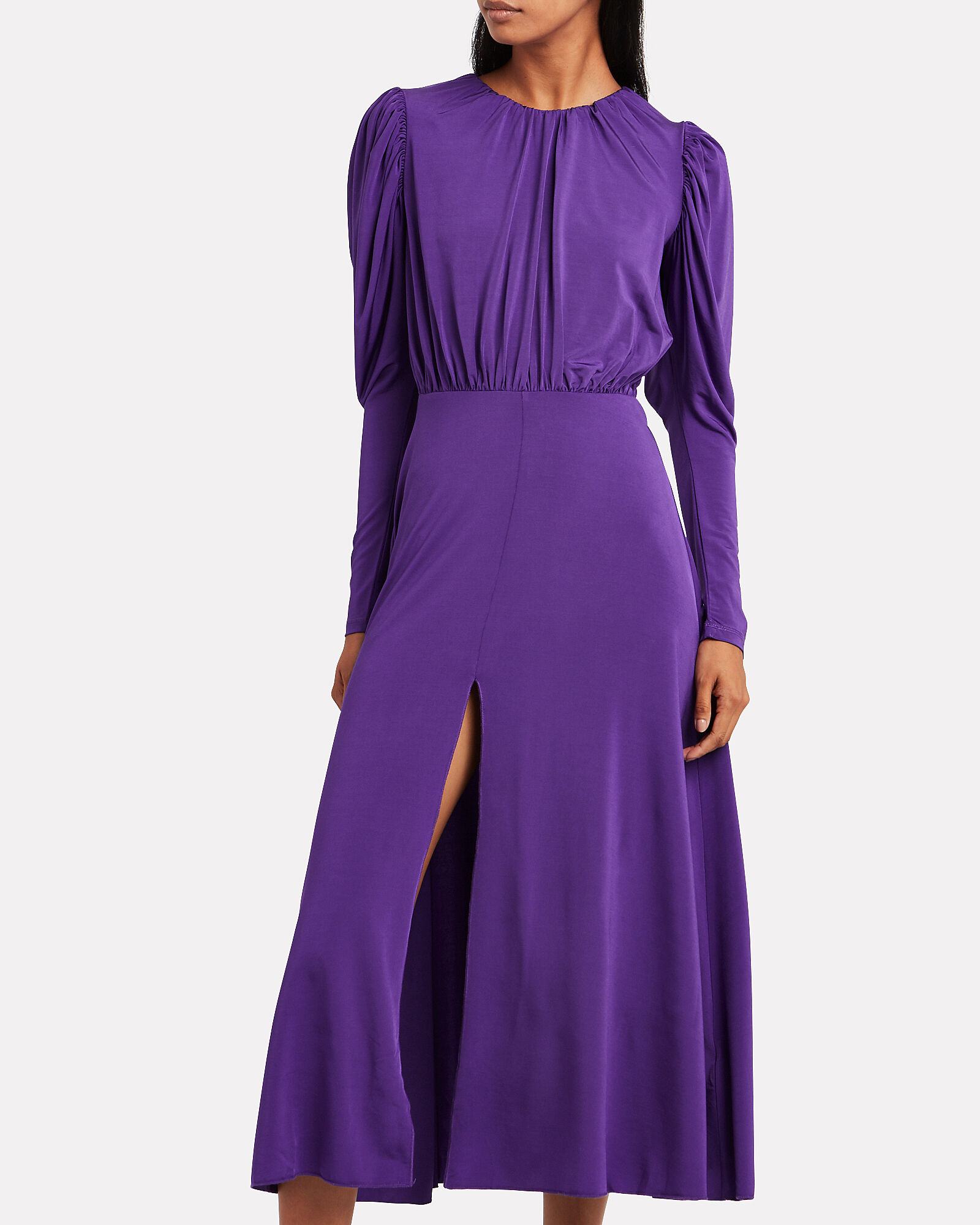 No. 57 Open Back Crepe Dress, PRISM VIOLET, hi-res