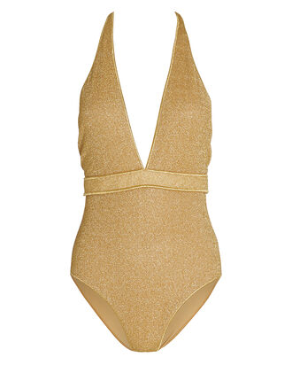 Lumiére Maillot One-Piece Swimsuit, GOLD, hi-res