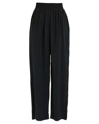 Wide-Leg Cupro Pants, BLACK, hi-res