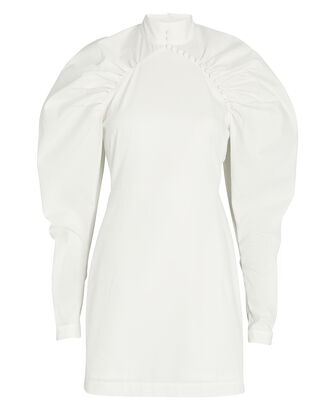 Kim Ruched Cotton Mini Dress, , hi-res
