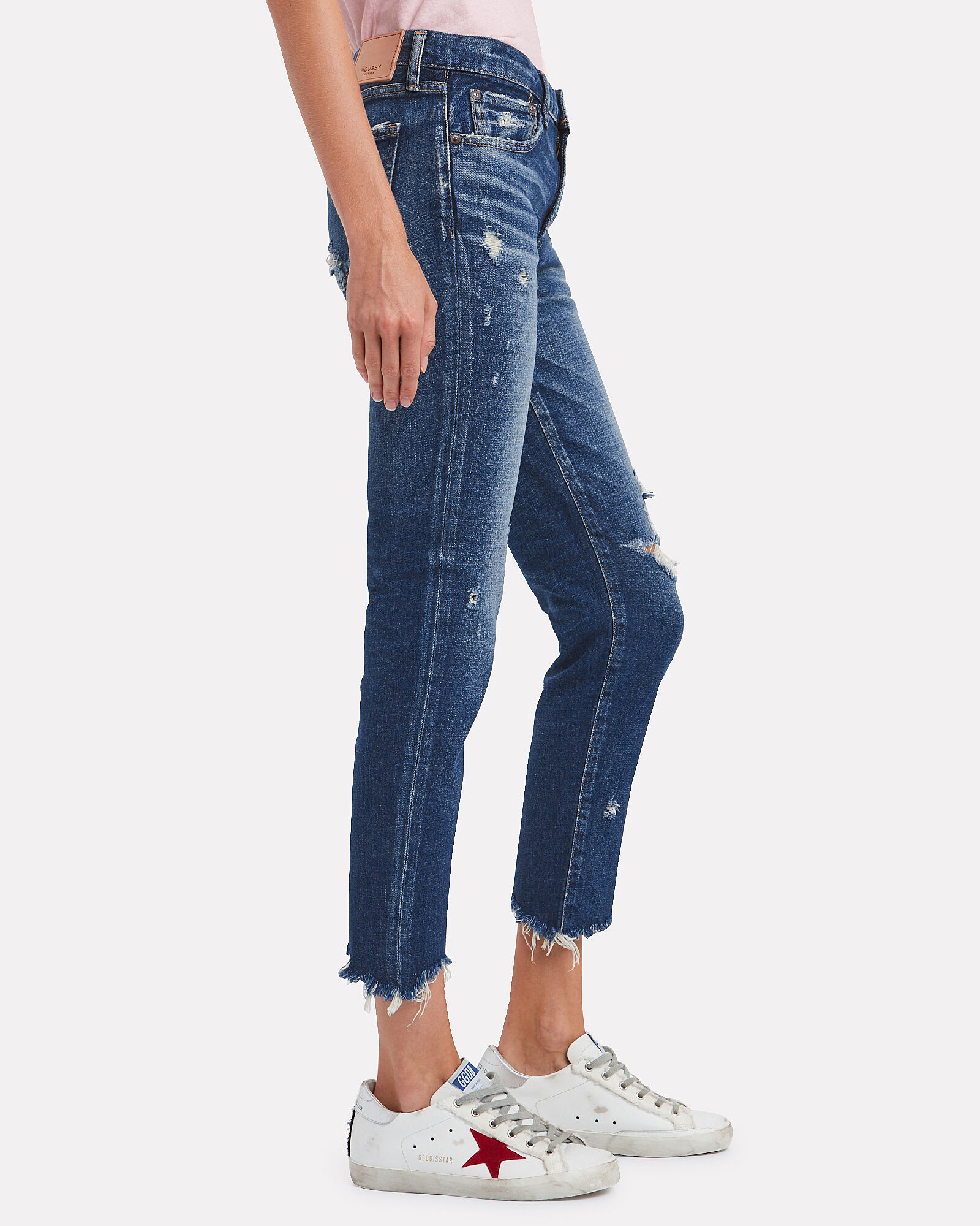 Glendele Distressed Skinny Jeans, DENIM, hi-res
