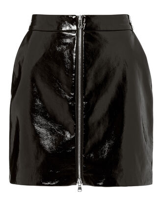 Claudia Patent Leather Skirt, BLACK, hi-res