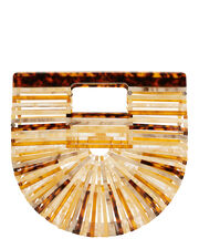 Ark Mini Amber Clutch, BROWN, hi-res