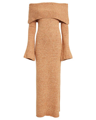 Mariel Sweater Dress, BEIGE, hi-res