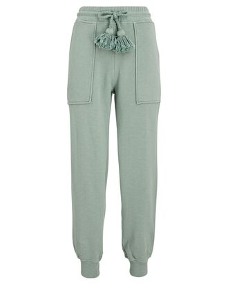 Charley Knit Fleece Joggers, LIGHT GREEN, hi-res