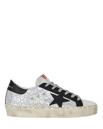 Hi Star Low-Top Glitter Sneakers, SILVER, hi-res