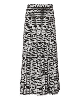 Tiger Jacquard Knit Skirt, BLK/WHT, hi-res