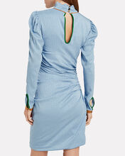 Vigdis Draped Jacquard Dress, BLUE-LT, hi-res