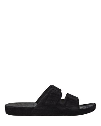 Bond Velvet Moses Two Band Slide, BLACK, hi-res