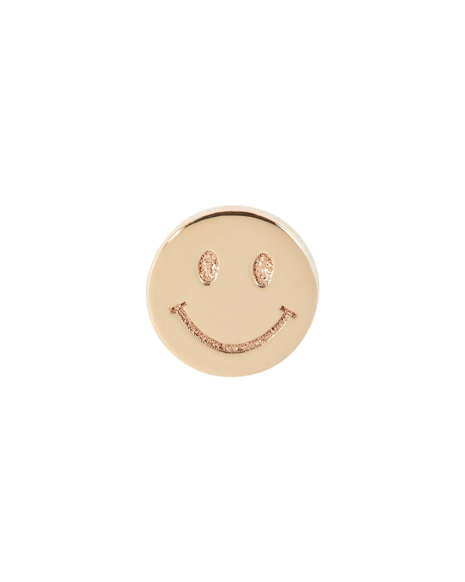 Itty Bitty Smiley Face Single Stud Earring, GOLD, hi-res