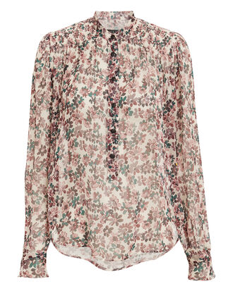 Susan Floral Top, LIGHT FLORAL, hi-res
