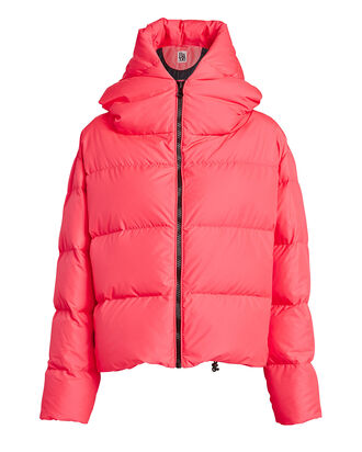 Cloud Hooded Puffer Jacket, NEON PINK, hi-res