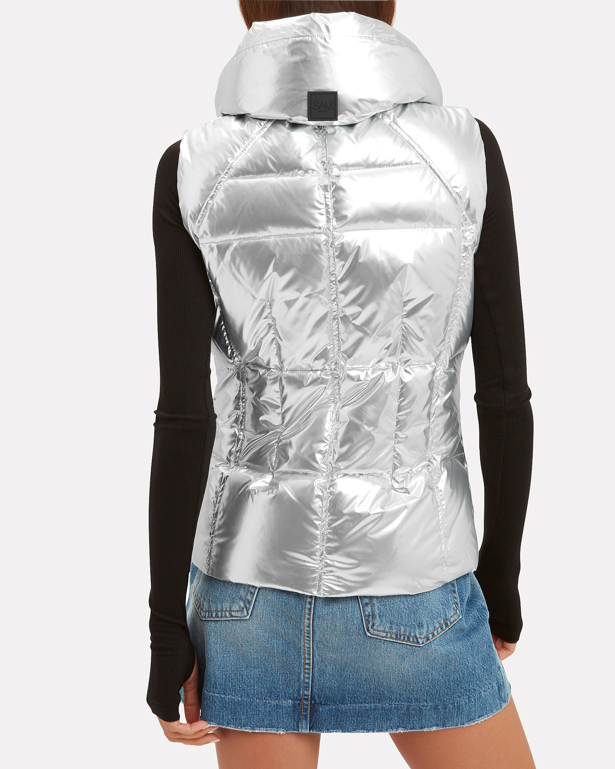 Freedom Puffer Silver Vest, SILVER, hi-res